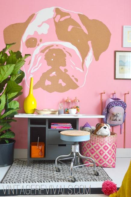 Little Girls Creative Bedroom @ Vintage Revivals