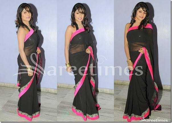 Esha_Ranganath_Black_Saree