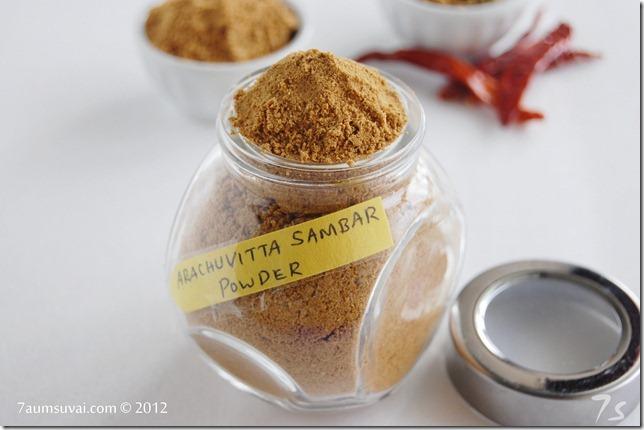 Arachuvitta sambar powder