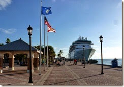 Cruise ship at Key West, Conch Republic