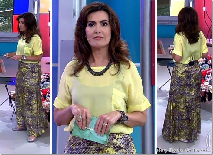 moda do programa encontro - fátima bernardes no dia 26 de setembro de 2013
