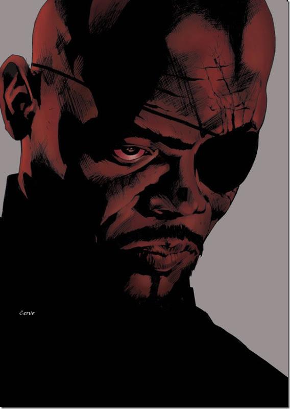 Nick Fury,Nicholas Joseph,Samuel L. Jackson, David Hasselhoff (2)