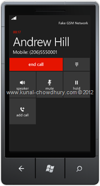 Screenshot 3 : How to Retrieve Phone Number from Contacts in WP7 using the PhoneNumberChooserTask?