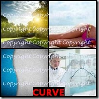 CURVE- 4 Pics 1 Word Answers 3 Letters