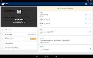 Screenshot of CamCard - Business Card Reader