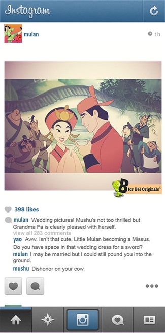 If Disney Princesses Had Instagram - Mulan by B for Bel
