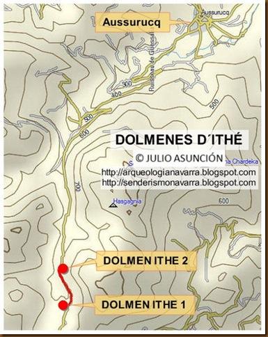 Mapa dólmenes Ithé