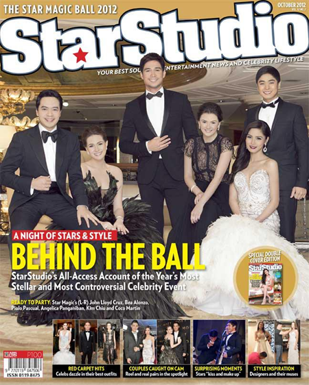 John Lloyd Cruz, Bea Alonzo, Piolo Pascual, Angelica Panganiban, Kim Chiu and Coco Martin in StarStudio Oct 2012 cover