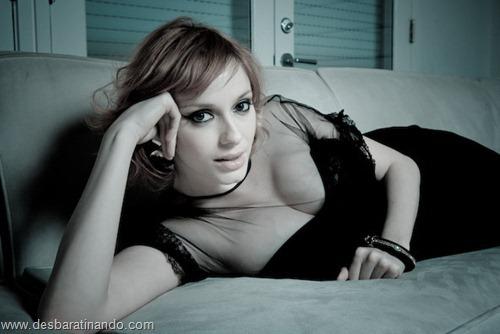 Christina Hendricks linda sensual sexy sedutora decote peito desbaratinando (25)