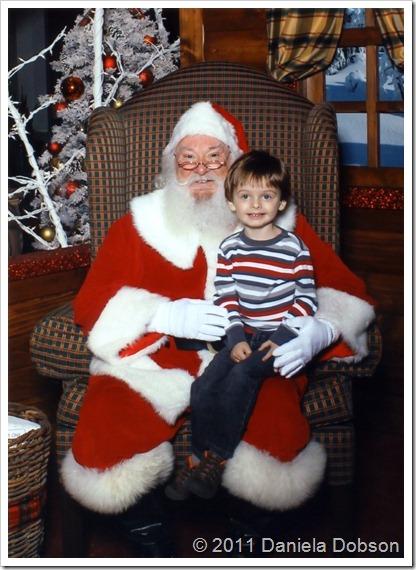 Alex & Santa 2011