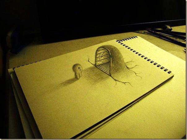 Incroyables dessins au crayon en 3D par Nagai Hideyuki-011