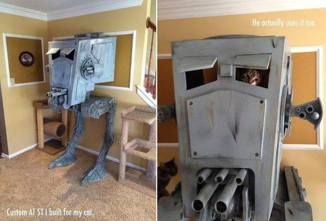 AT-ST Cat Condo via Geekologie