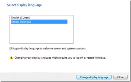 LIP ID Windows 7 Language Interface Pack Bahasa Indonesia