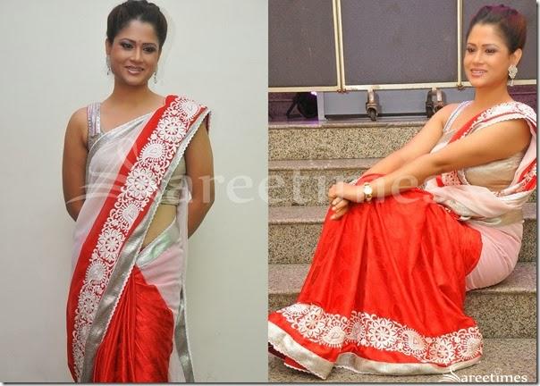 Shilpa_Chakravarthy_Pink_Red_Saree