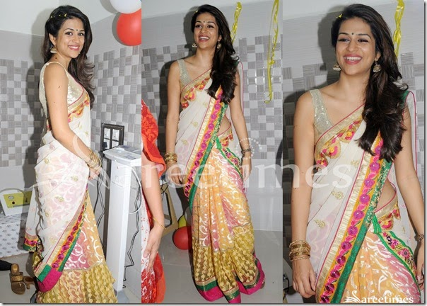Shraddha_Das_Half_and_Half_Saree