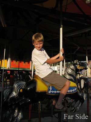 Adam on the Merry Go Round