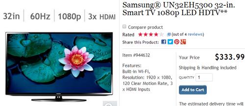 Samsung UN32EH5300 (click to Costco)