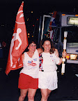Ellen carrying her 1996 Olympic Torch with friend Ossie Hanauer