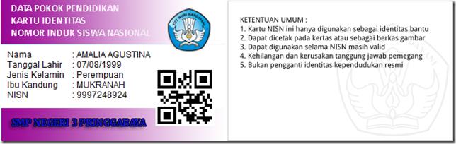 Kartu NISN dengan Desain sendiri