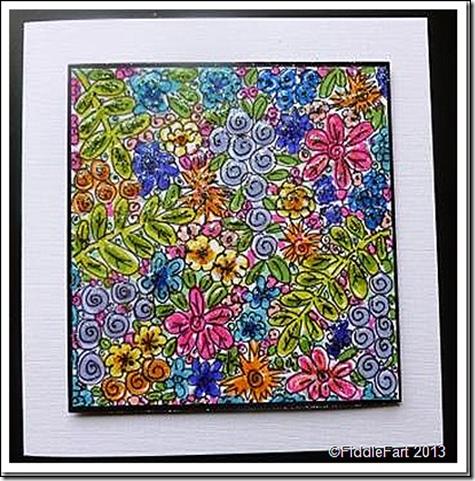 Doodled Flower Crad