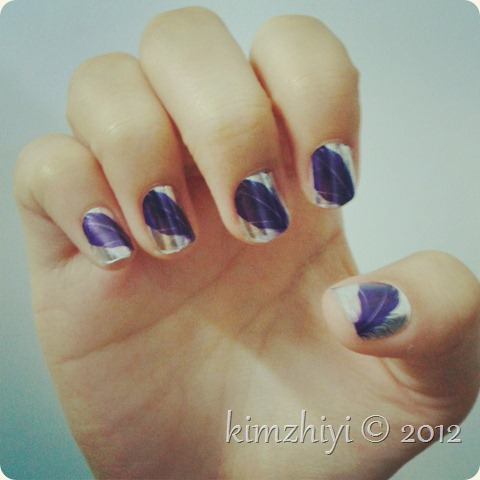 Purple nail stickers from Seventeen mag Malaysia