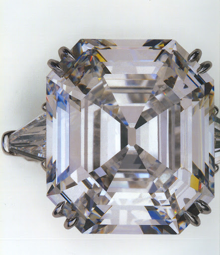 The infamous Krupp diamond--33 carats!  (photo, Elizabeth Taylor:My Love Affair With Jewelry)