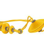 Nowoczesna obejma dekoracyjna do zasłon i tkanin z magnesem. Żółta.