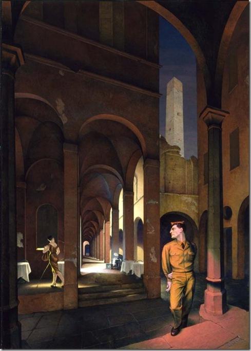 Paul Cadmus, Night in Bologna, 1958