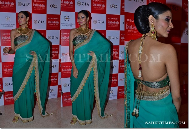 Sruthi_Sancheti_Green_Designer_Saree