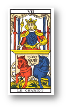 El carro. Tarot de Grimaud