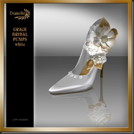 DANIELLE Grace Bridal Pumps White'