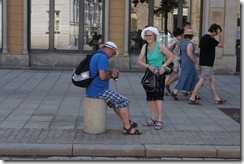 Frank and Bridget in Old Town, Warsaw