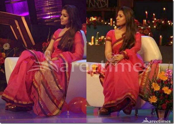 Nayanthara_Chanderi_Saree