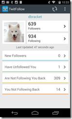 أهم الإحصائيات عن حسابك على تويتر وأعداد المتابعين عن طريق تطبيق TwitFollow