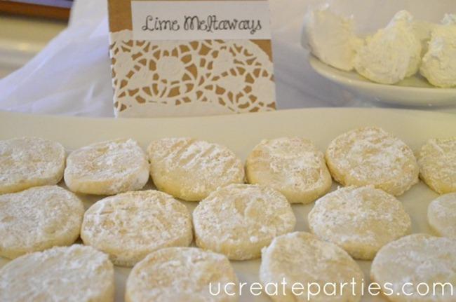 Bridal Shower Dessert Table Lime Meltaways