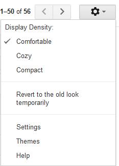 Gmail Density Control