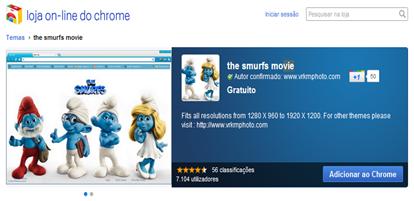 chr Smurfs movie no navegador