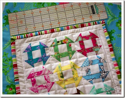 Churn Dash Mini Quilt Size