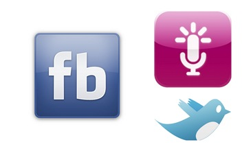 Facebook, Twitter and AudioBoo