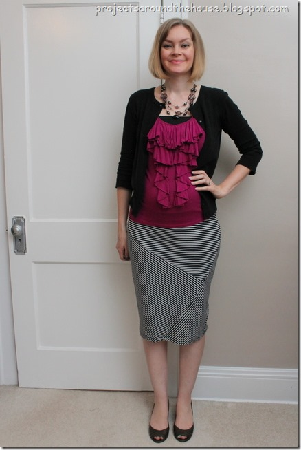 pink with black and white stripes