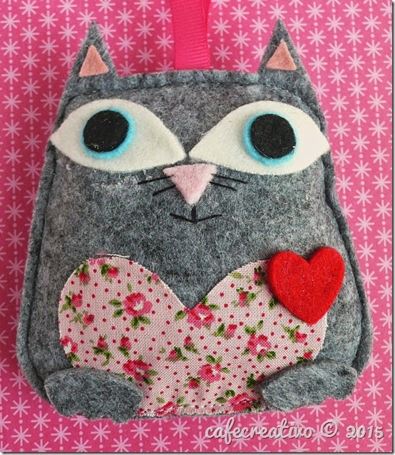cafe creativo - sizzix big shot - fustella gufo - gatto