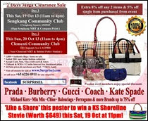 Surprisel Handbags Warehouse Sale Event Singapore 2013 Deals Offer Shopping EverydayOnSales