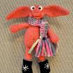 Олена Вовк, іграшка, Свин новорічний, мокре валяння.jpg