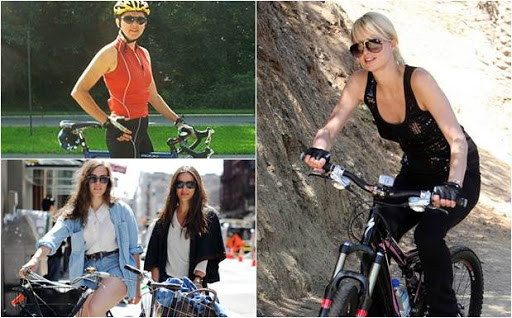 wanita cantik bersepeda