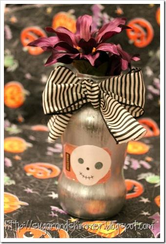 Painted Halloween Vase