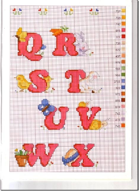 alfabeto ponto cruz,