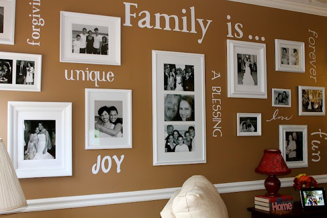 feature family wall