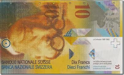 Nota de 10 francos suíços - Frente