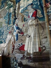 the cherry seller tapestry