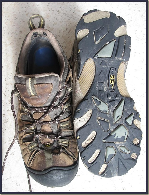 Keen Targhee 11 Walking Shoes after 1400km